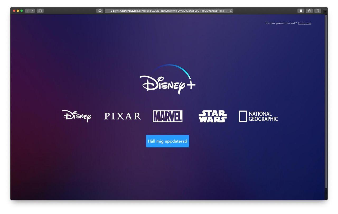 Disney+ Sverigelansering senareläggs