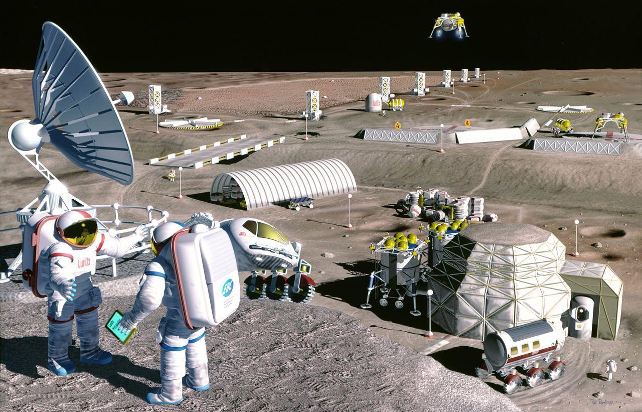 USA börjar skissa på att dela upp månens framtida gruvdrift