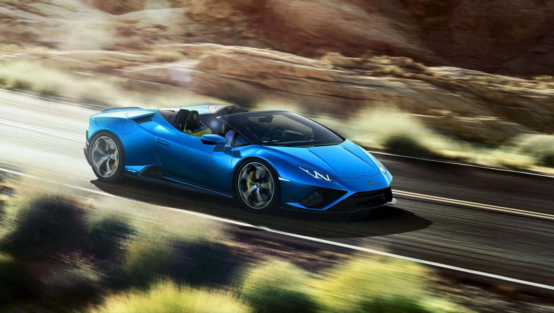 Lamborghini Huracán Evo RWD nu även som cabriolet