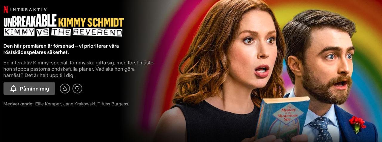 Netflix interaktiva Kimmy Schmidt-special försenas
