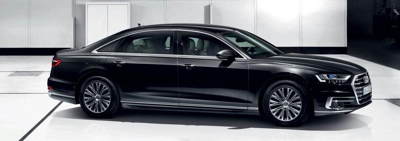Äntligen är den här - bepansrade versionen av nya Audi A8