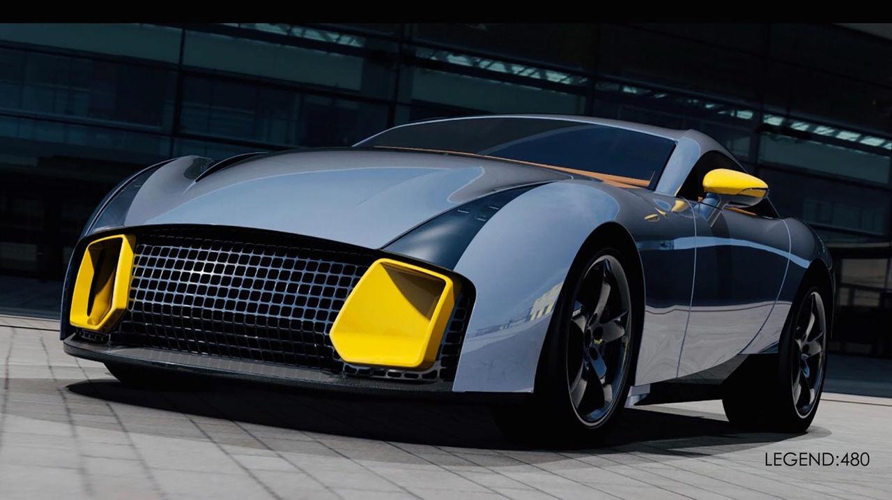 Mulholland Automotive presenterar sportbilen Legend 480