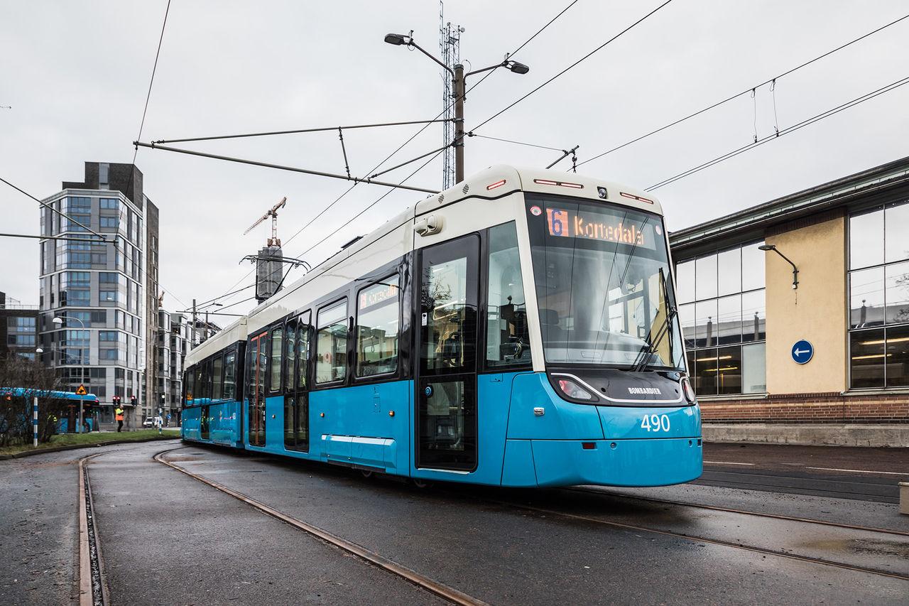 Spårvagnstrafiken i Göteborg stoppas