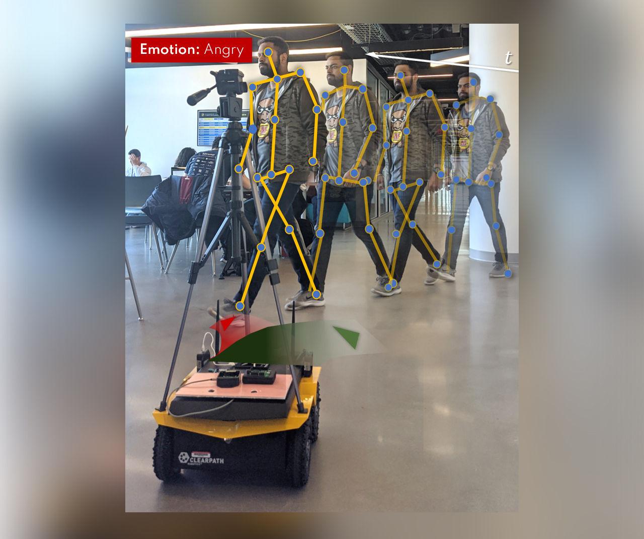 Robot kan tyda vårt humör genom att observera vår gångstil