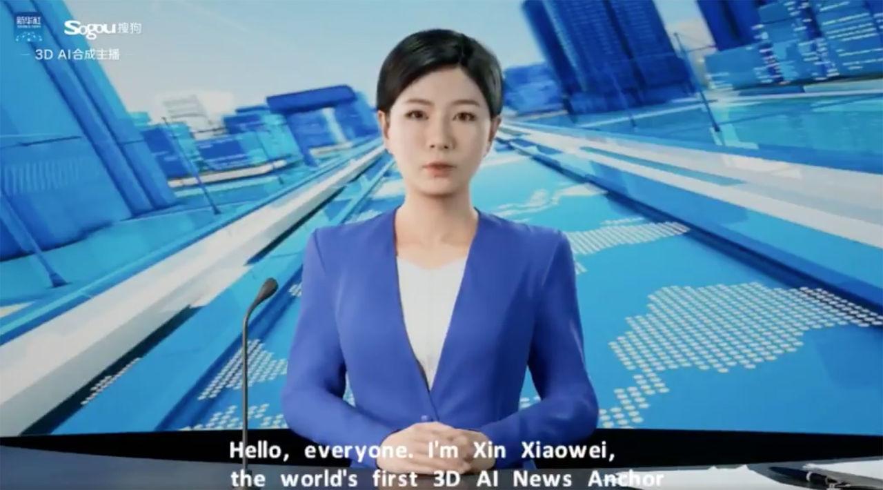 Kina har fått ännu en AI som läser upp nyheter