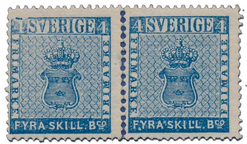 Exemplar av Sveriges första frimärke sålt på auktion