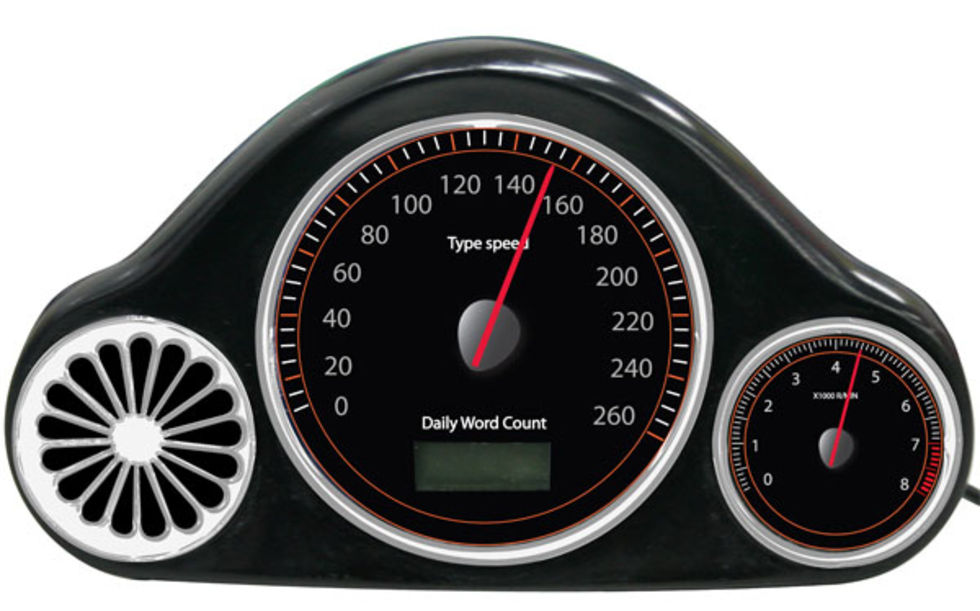 Hastighetsmätare till tangentbordet