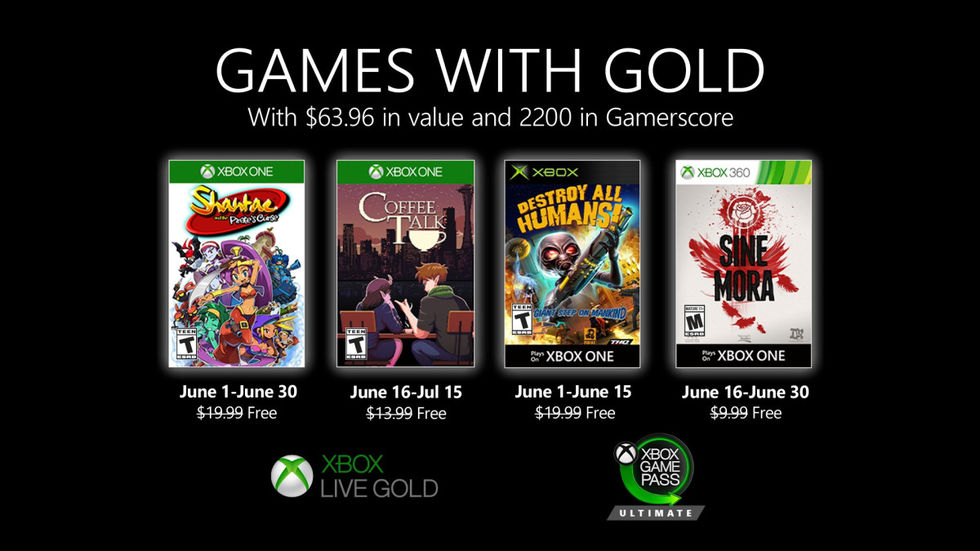 Microsoft presenterar nästa månads Games with Gold