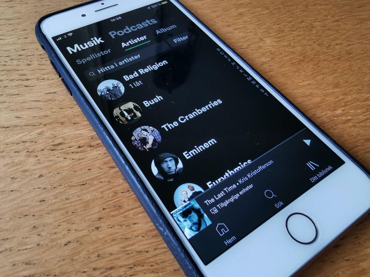 Spotify tar bort övre gräns för användares musikbibliotek