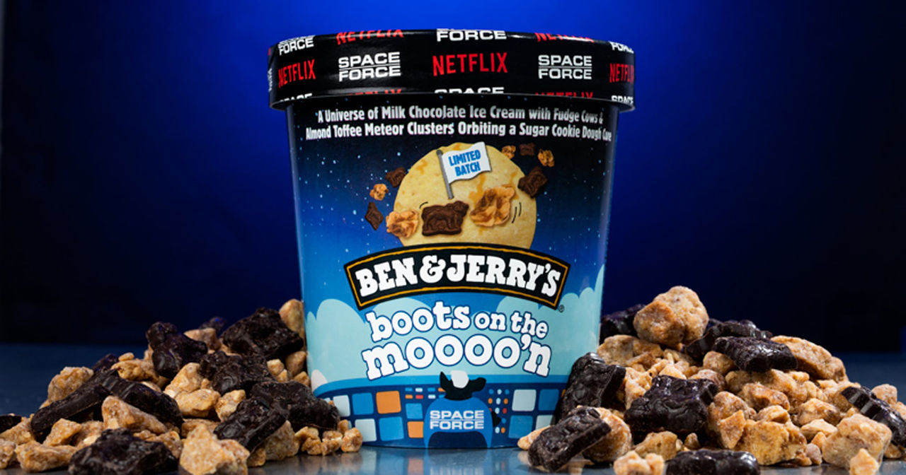 Ny Ben & Jerry's-glass till serien Space Force