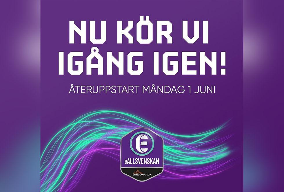 eAllsvenskan kickar igång igen 1 juni