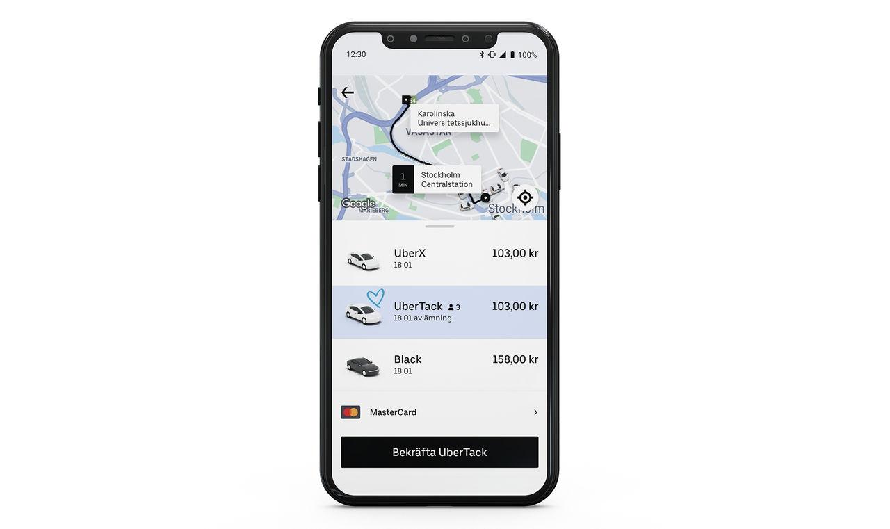 Uber bjussar vårdanställda på taxiresor