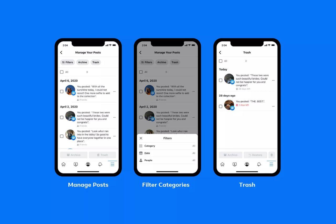Facebook gör det enklare att rensa upp sin historia