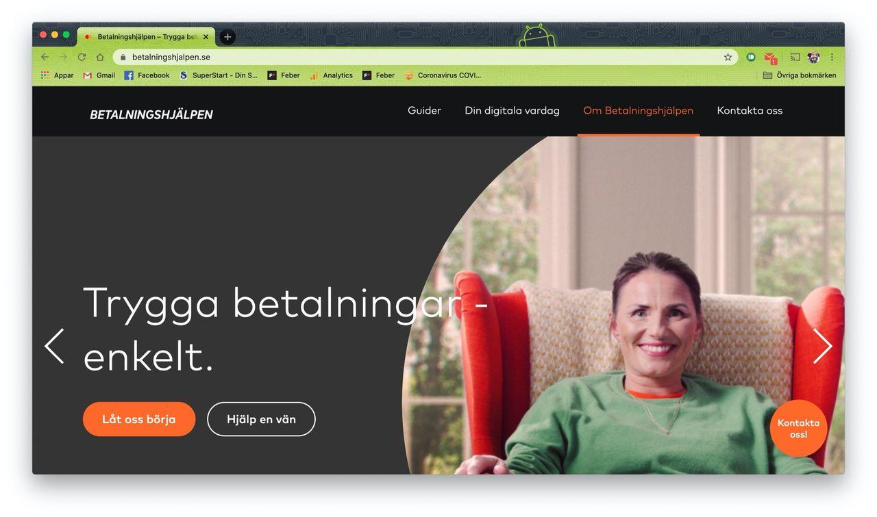 Betalningshjälpen vill hjälpa äldre att betala online