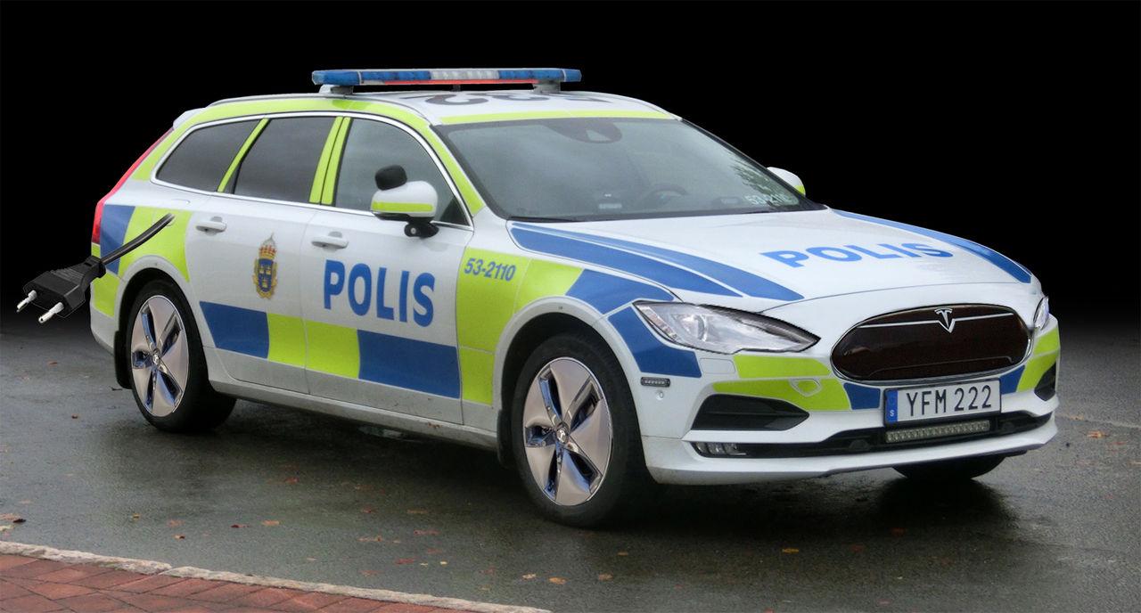 Inga elbilar för polisen i Sverige på åtta år