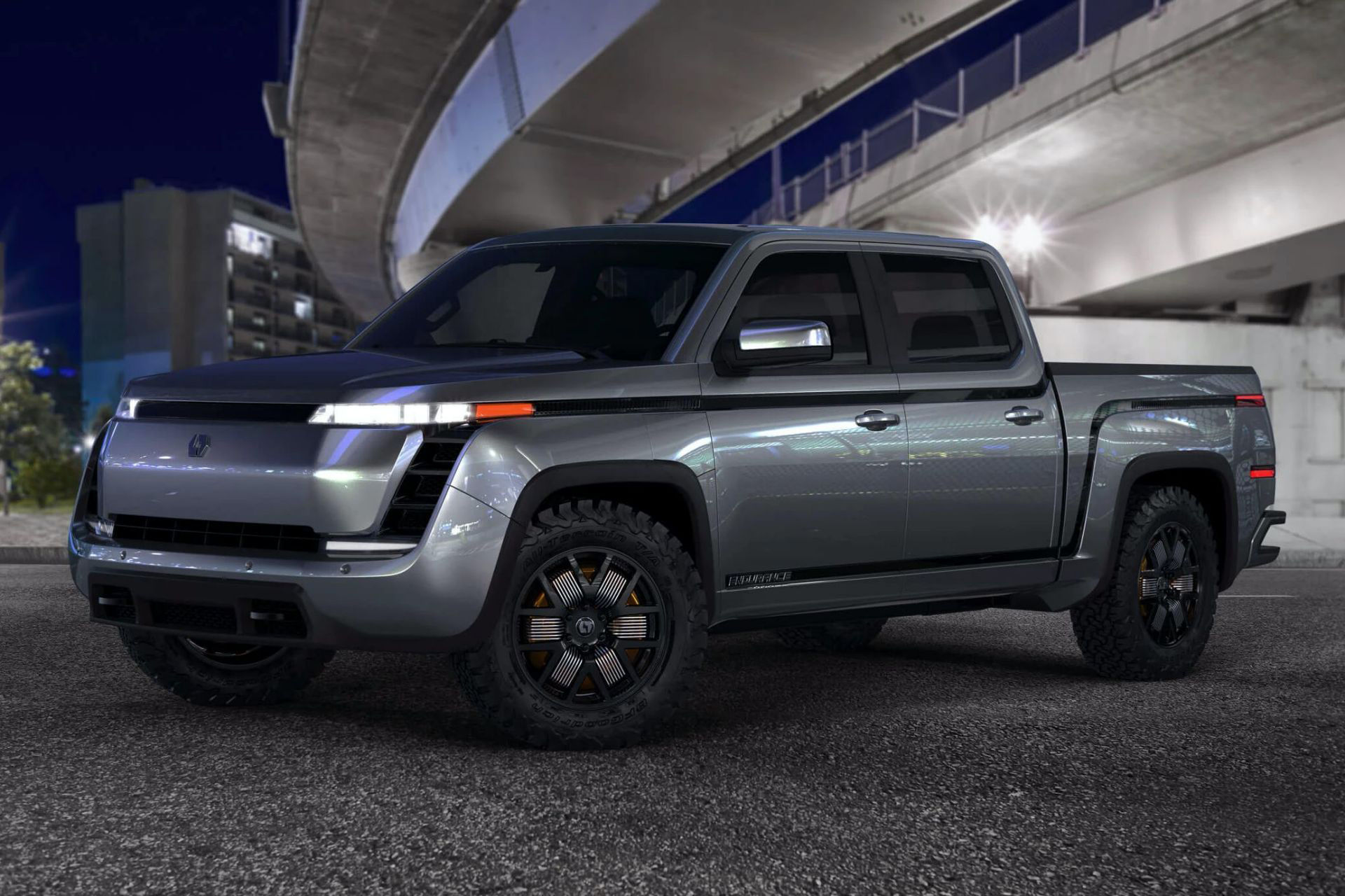 Nya renderingar på Lordstowns eldrivna pickup