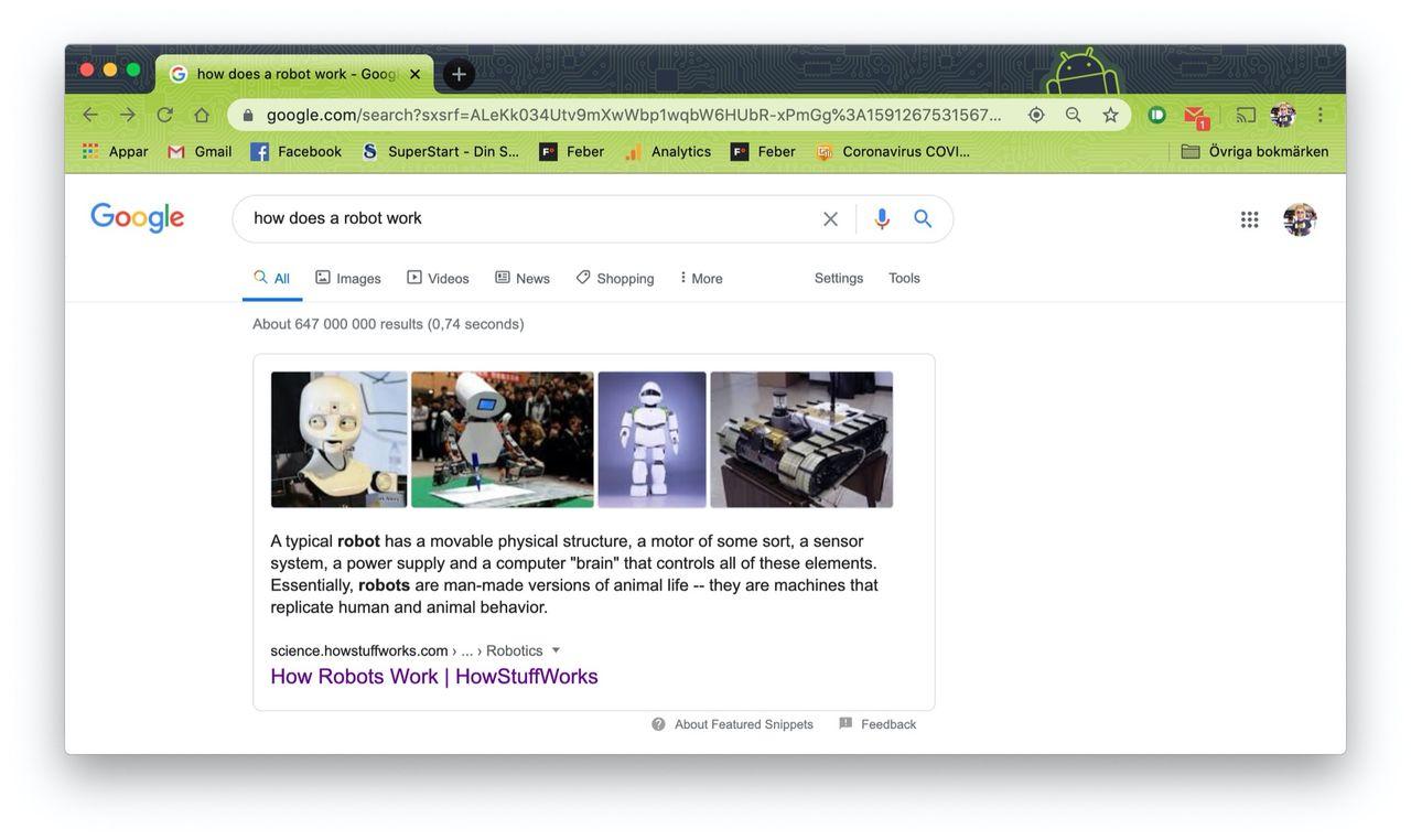 Google börjar markera sökresultat direkt på webbsidor