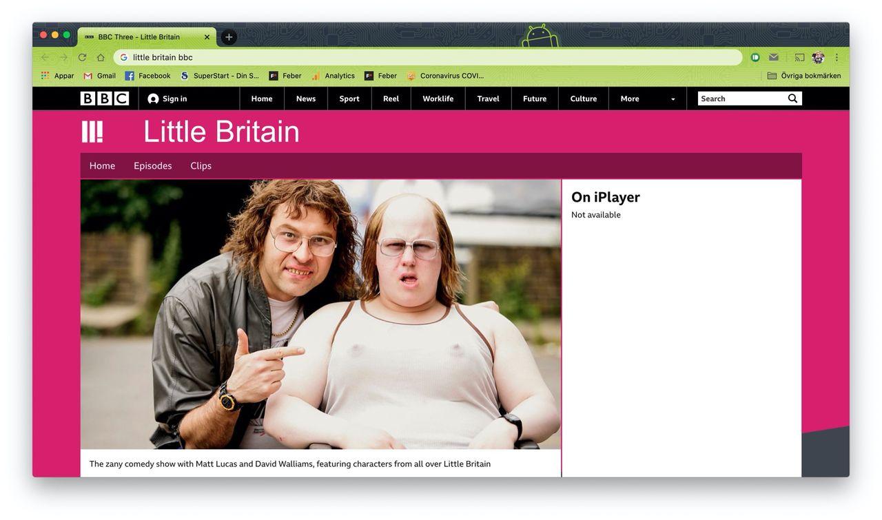Little Britain bortplockat från Netflix
