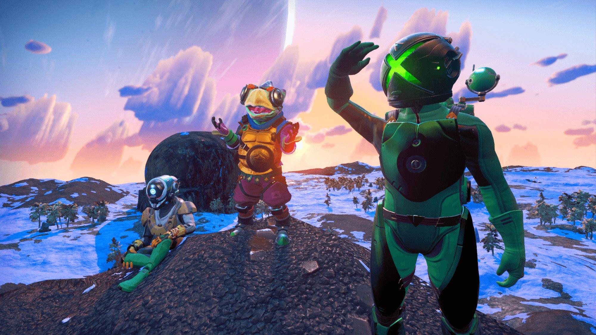 No Mans Sky får crossplay Utforska världar tillsammans!