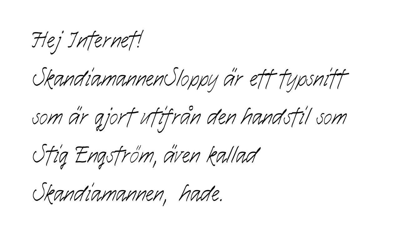 Skandiamannens handstil som typsnitt