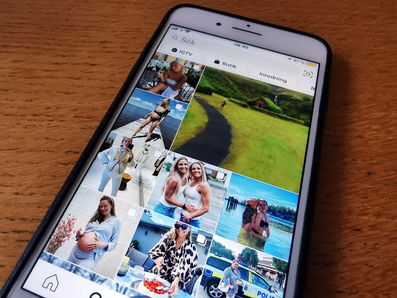 Instagrams algoritm prioriterar lättklädda bilder