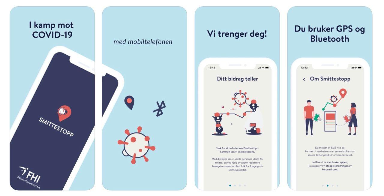 Norge stoppar smittspårnings-app