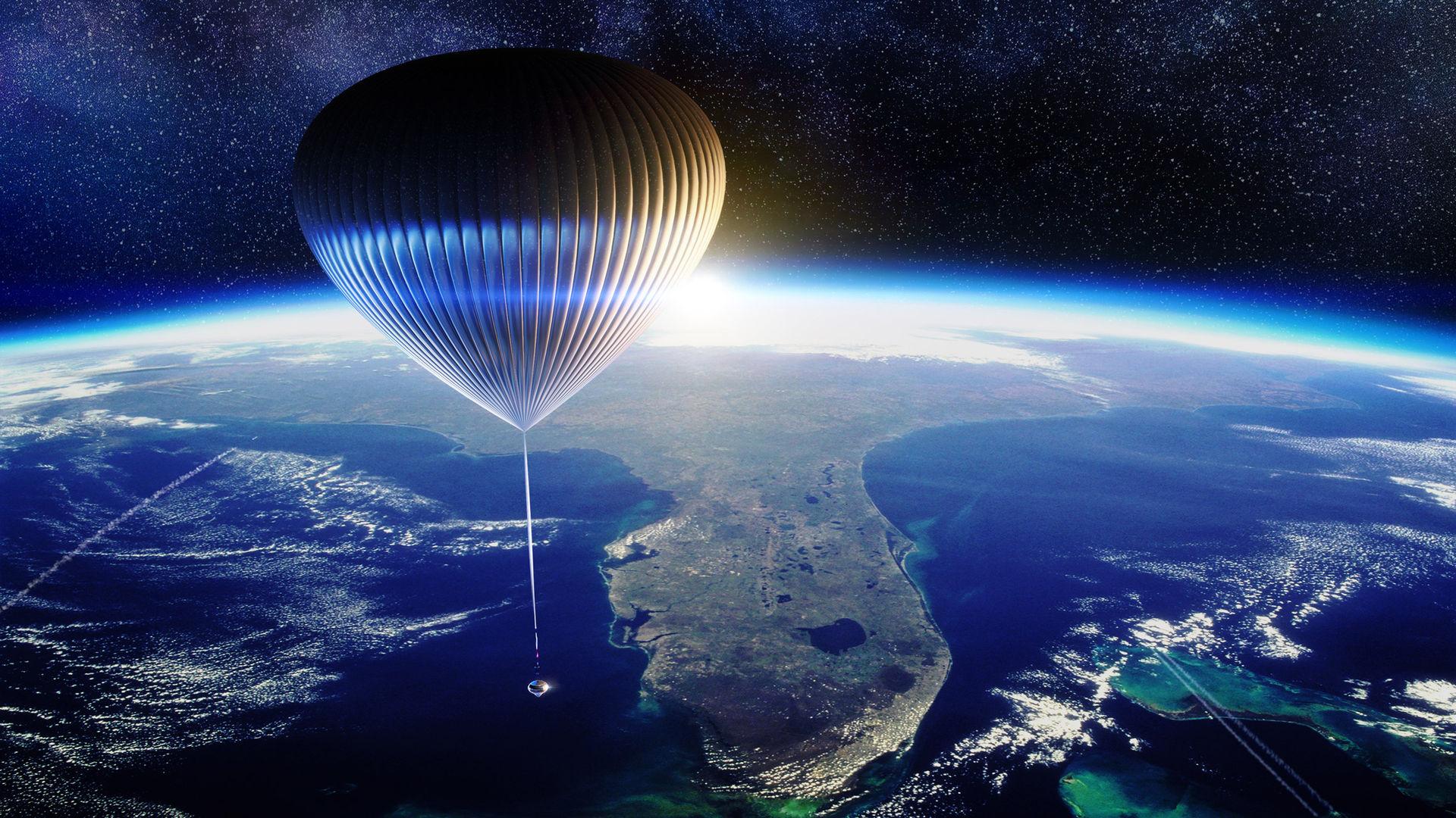 Företag planerar att flyga turister till stratosfären i en ballong