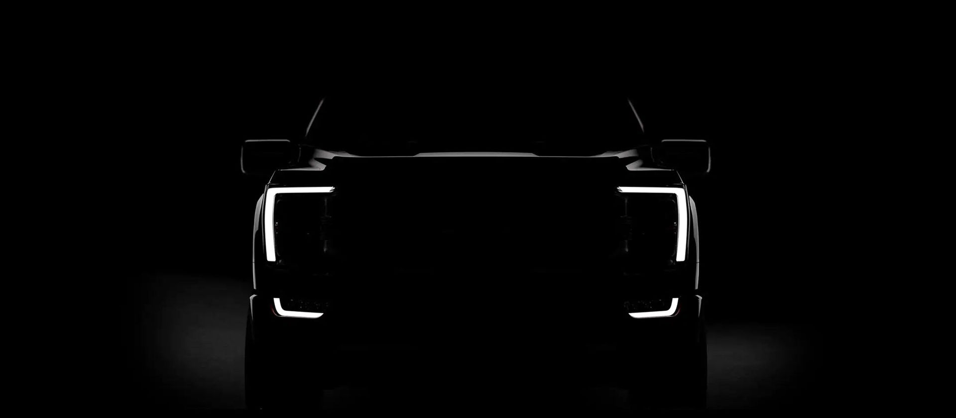 Teaserbild på Ford F-150:s nya ansikte