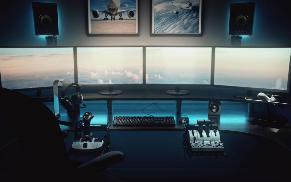 Thrustmaster visar nya spelkontroller för flygsimulatorer