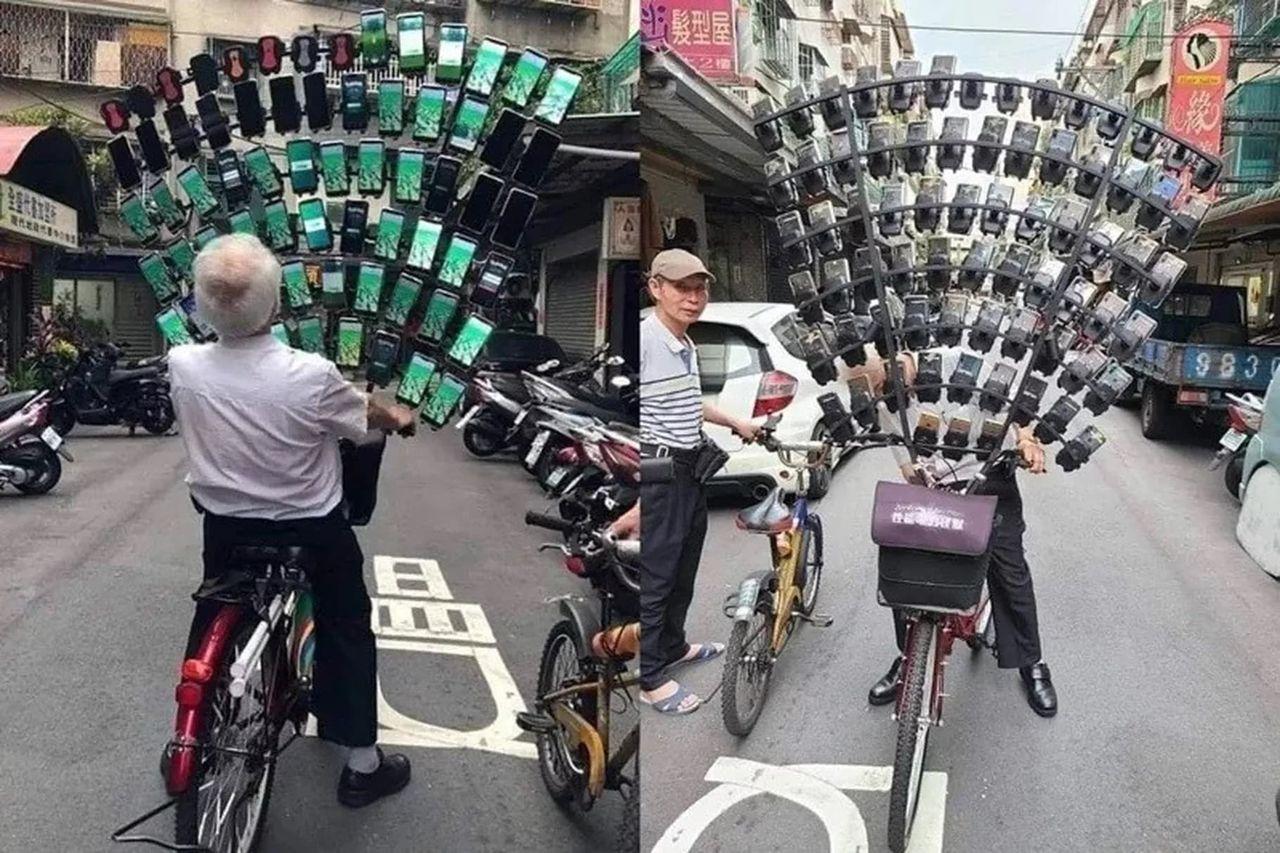 Taiwanesisk pensionär har uppdaterat sin Pokémon Go-cykel