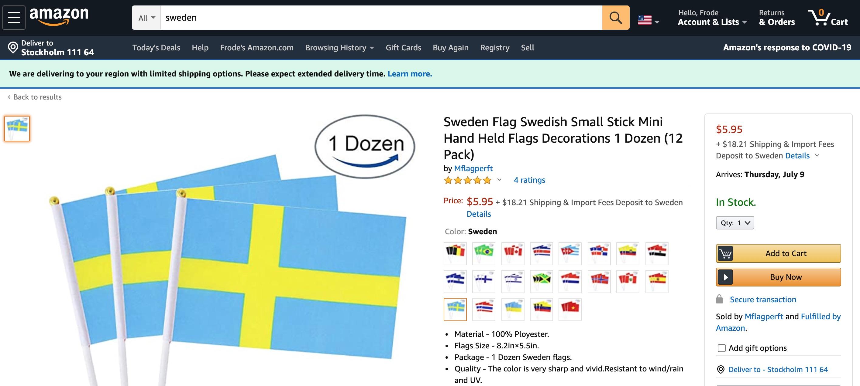 Amazon söker folk i Sverige Amazon.se närmar sig?