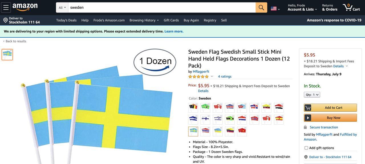 Amazon söker folk i Sverige