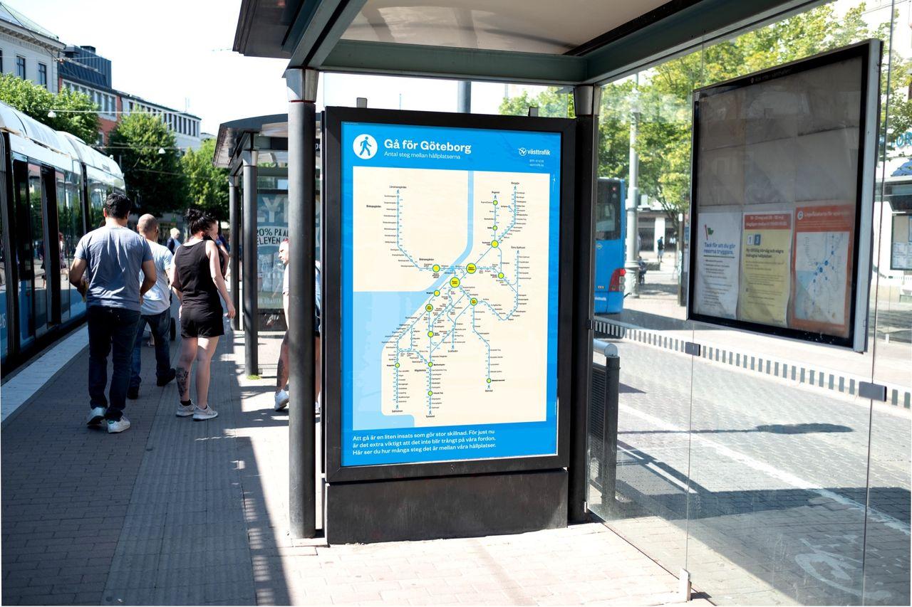 Västtrafik börjar posta antal steg mellan stationer
