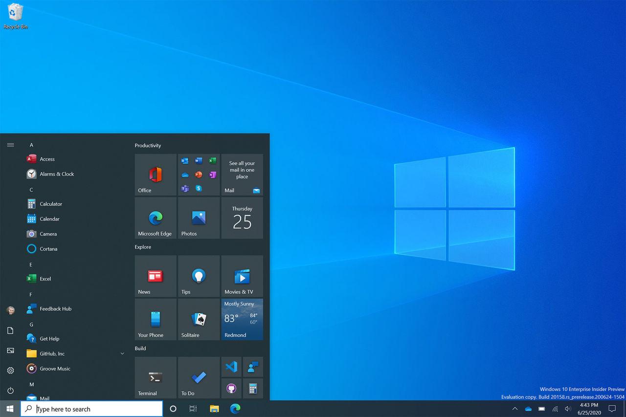 Microsoft visar upp ny startmeny för Windows 10