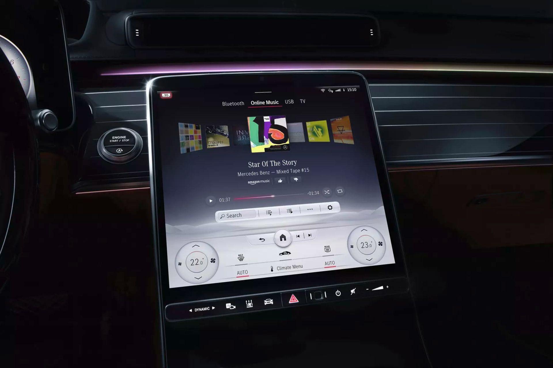 Mercedes-Benz visar upp ny version av MBUX