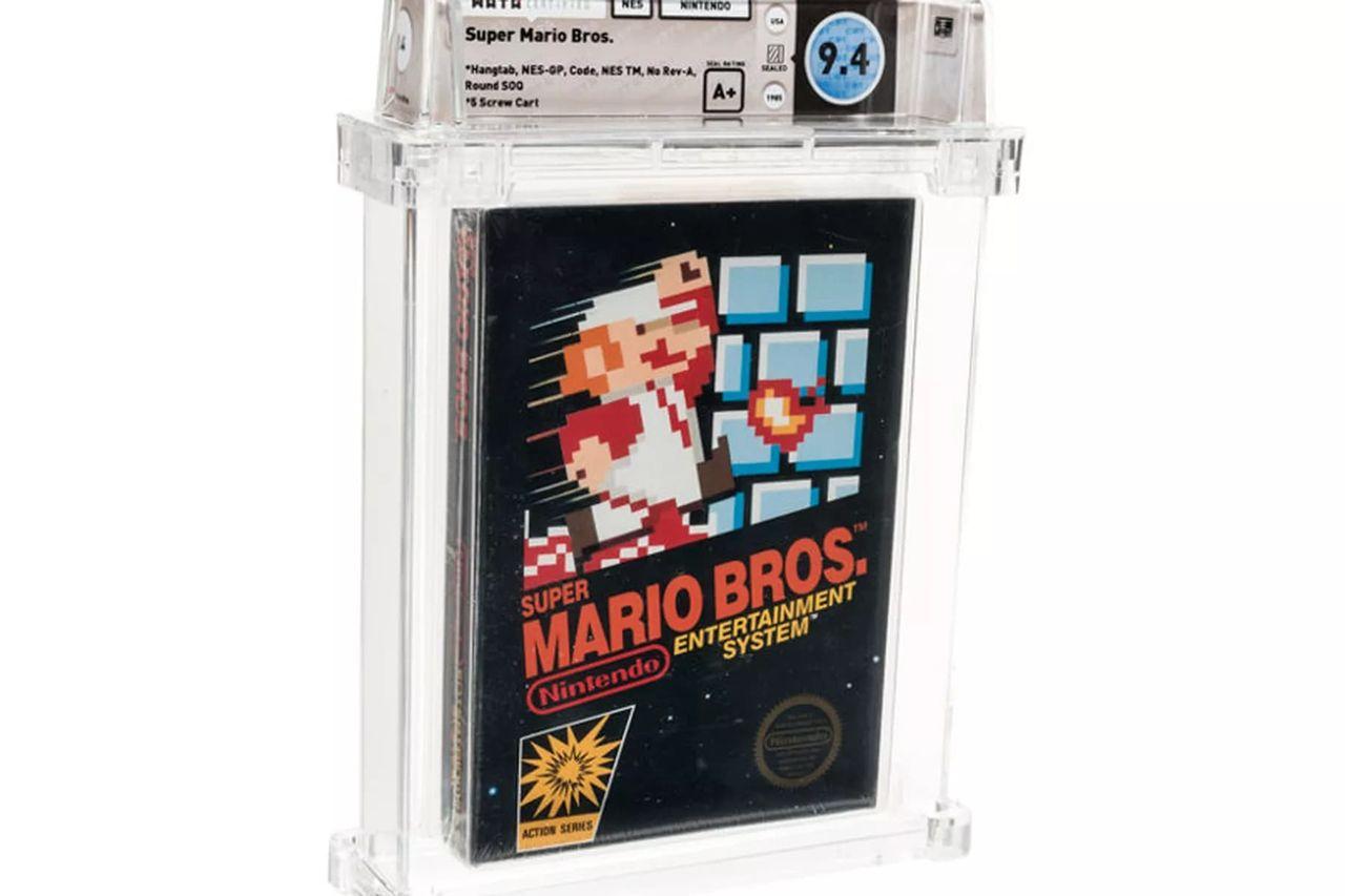 Super Mario Bros-spel sålt för 114.000 dollar