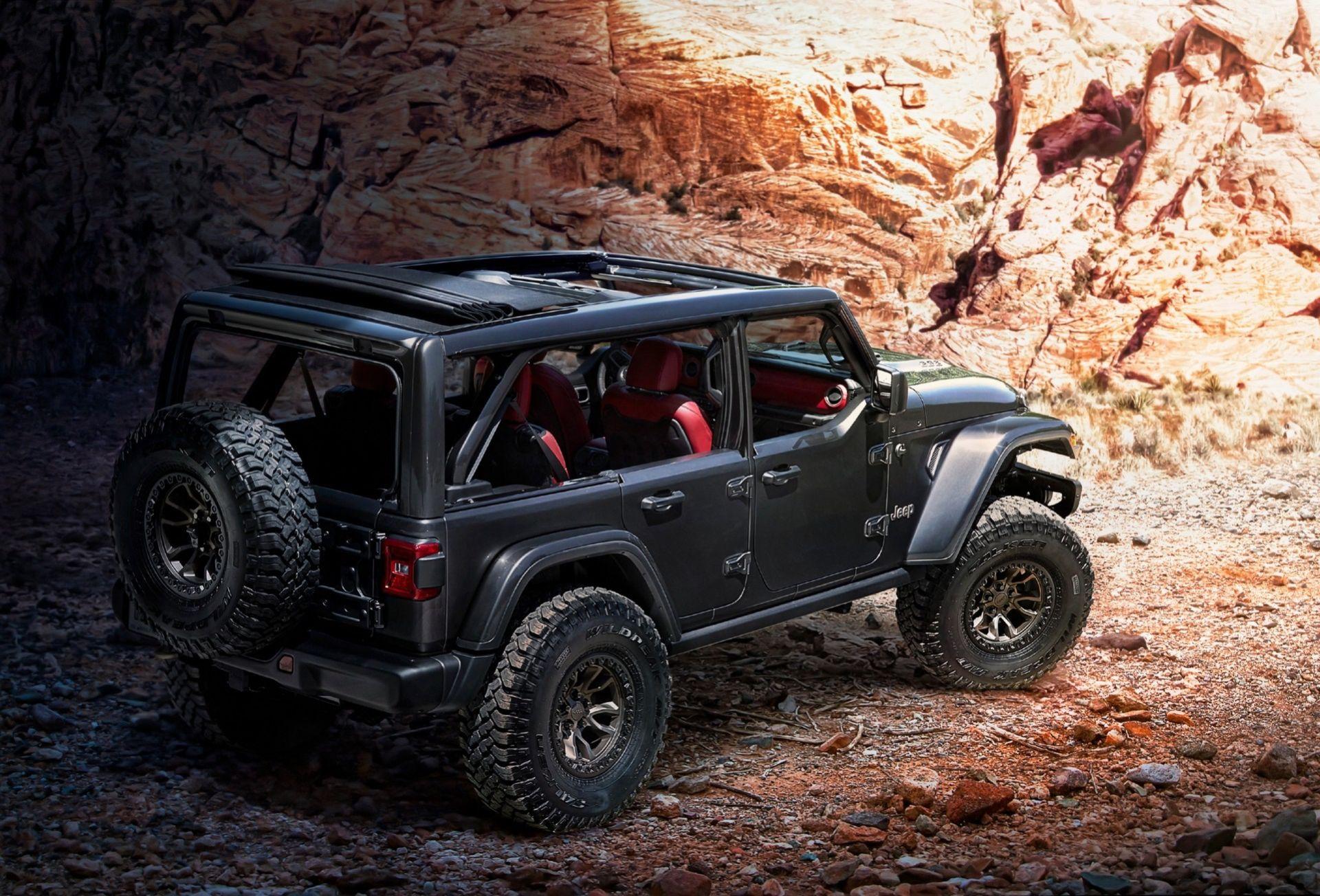 Jeep har stoppat ner V8:a i Wrangler