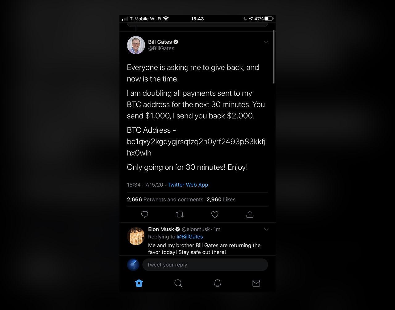 Elon Musk, Bill Gates och massa andras twitterkonton hackade
