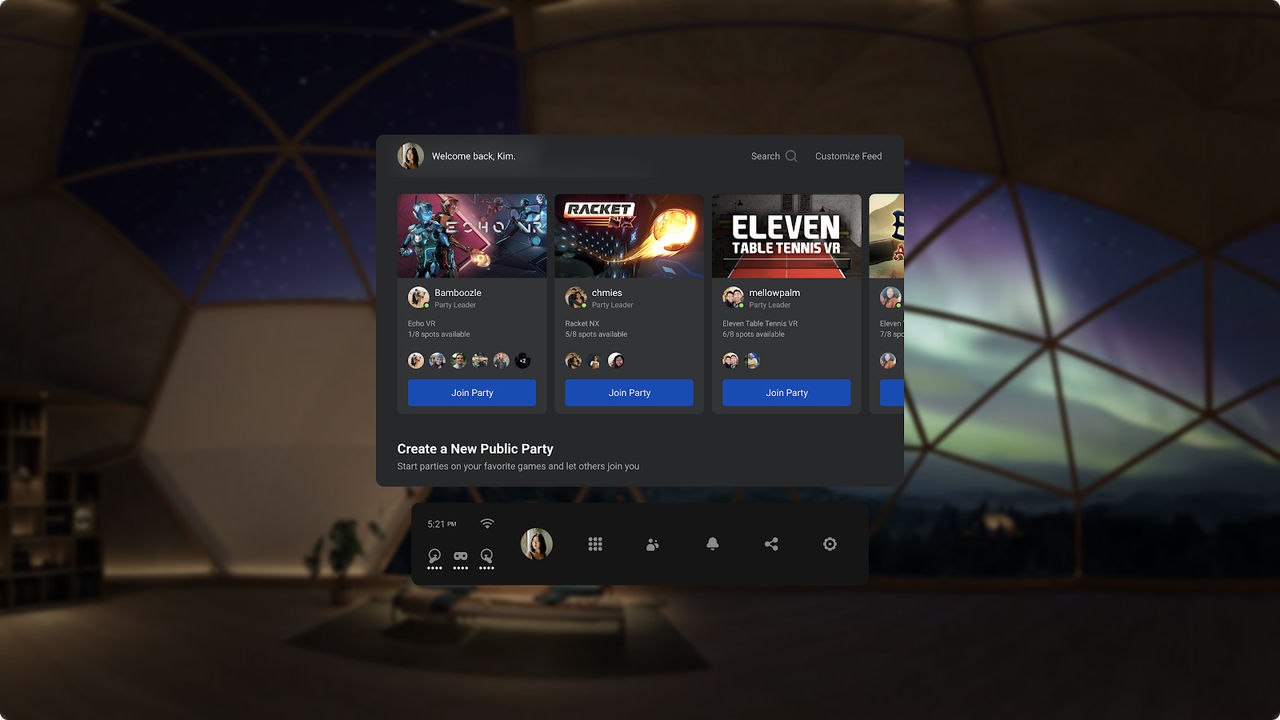 Oculus gör det enklare att hitta nya vänner i VR