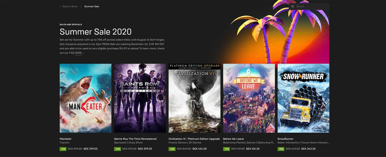 Epic Games drar igång stor sommarrea