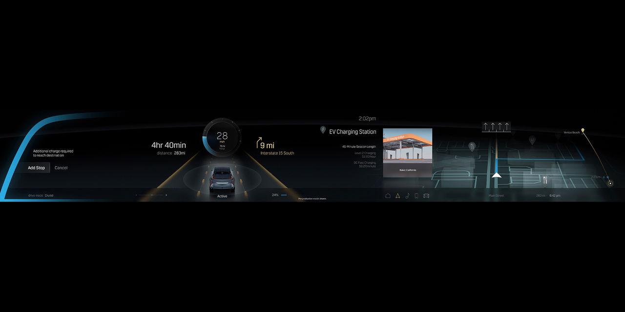 Cadillacs kommande elbil får 33 tum stor skärm
