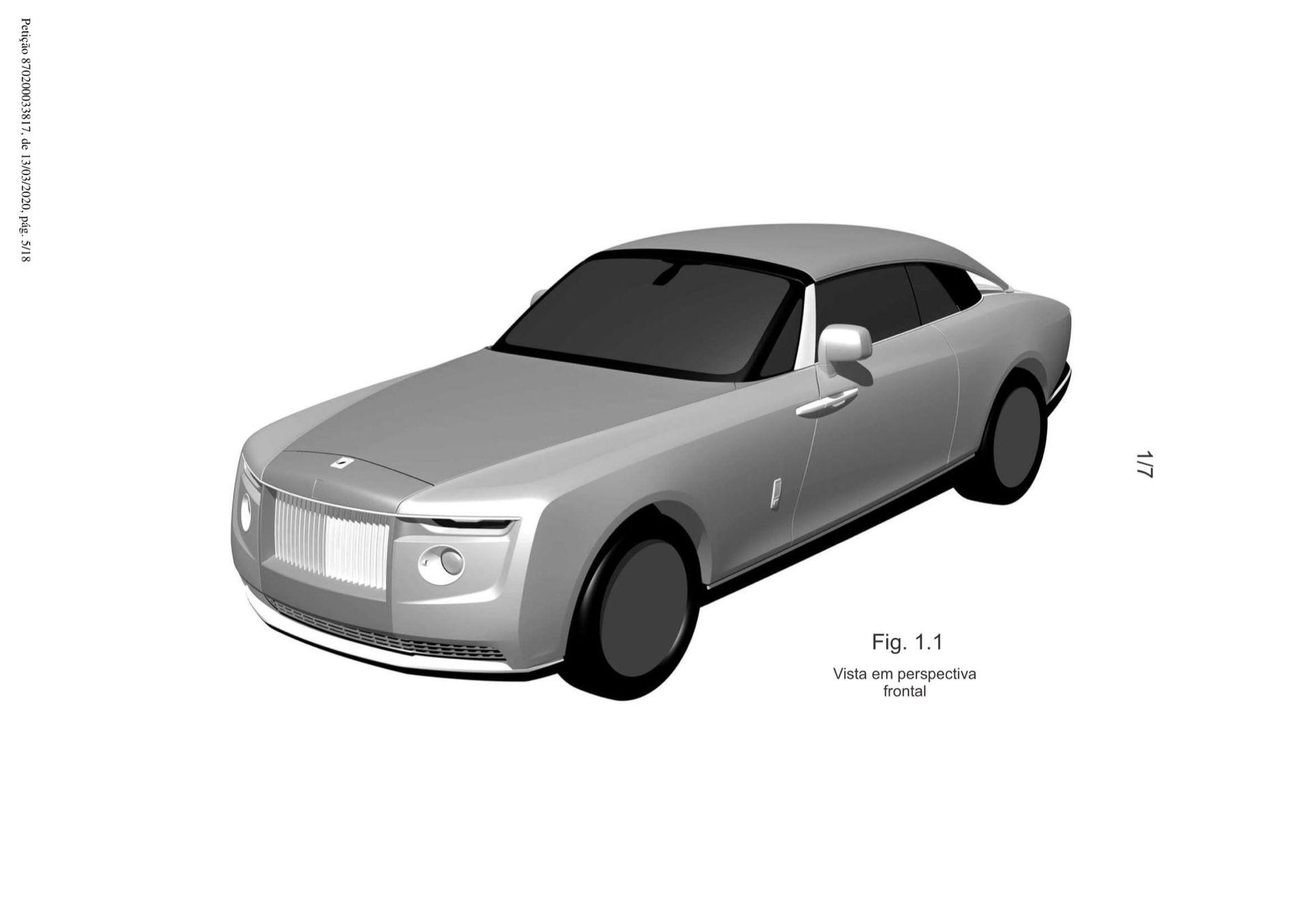 Patentritningar visar ny unik Rolls-Royce