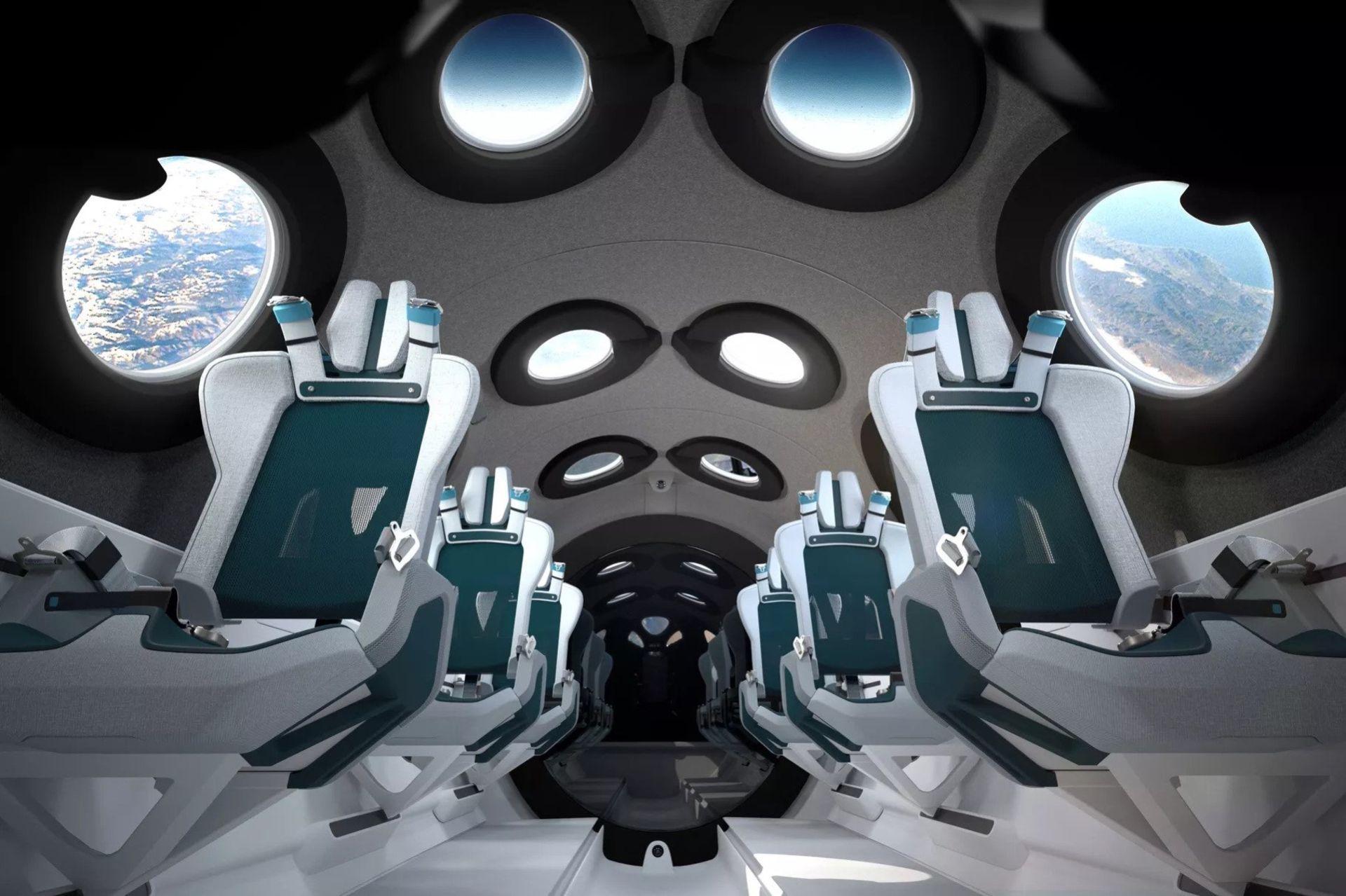 Virgin Galactic visar insidan på sitt rymd-flygplan