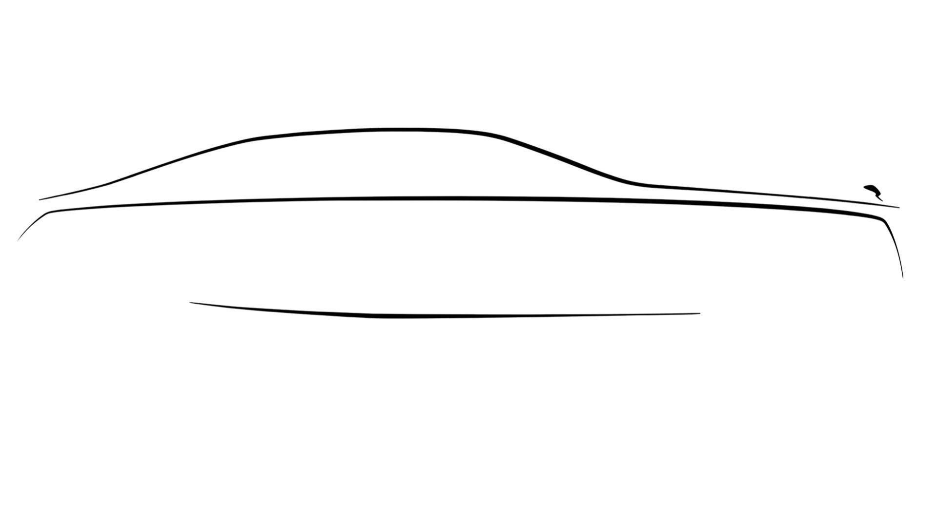 Första teasern för nya Rolls-Royce Ghost