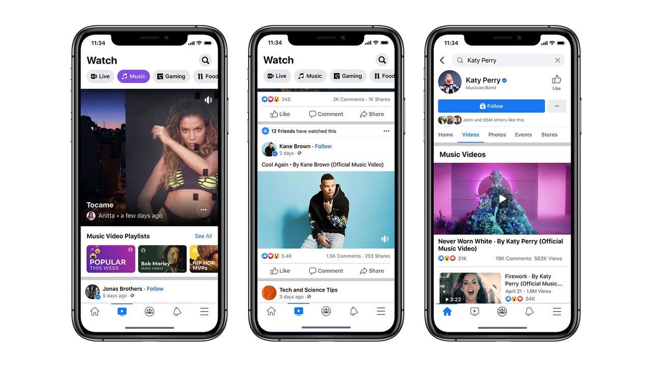 Facebook börjar med musikvideos