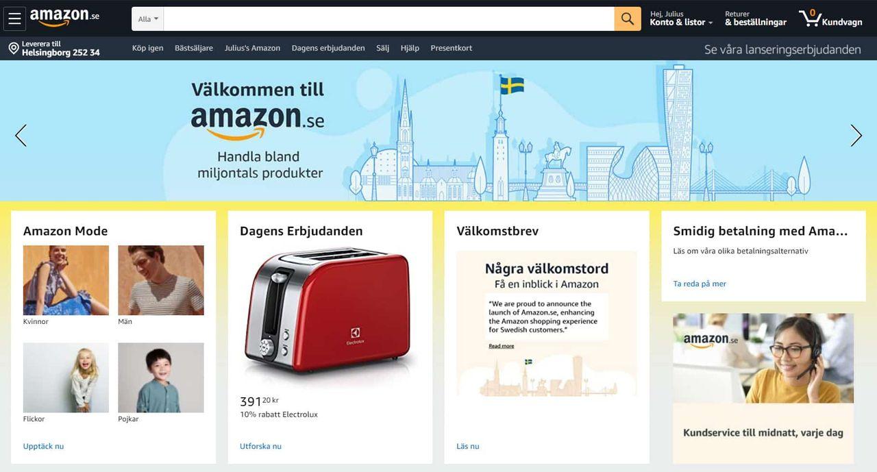 Ehandel kollar in Amazon.se