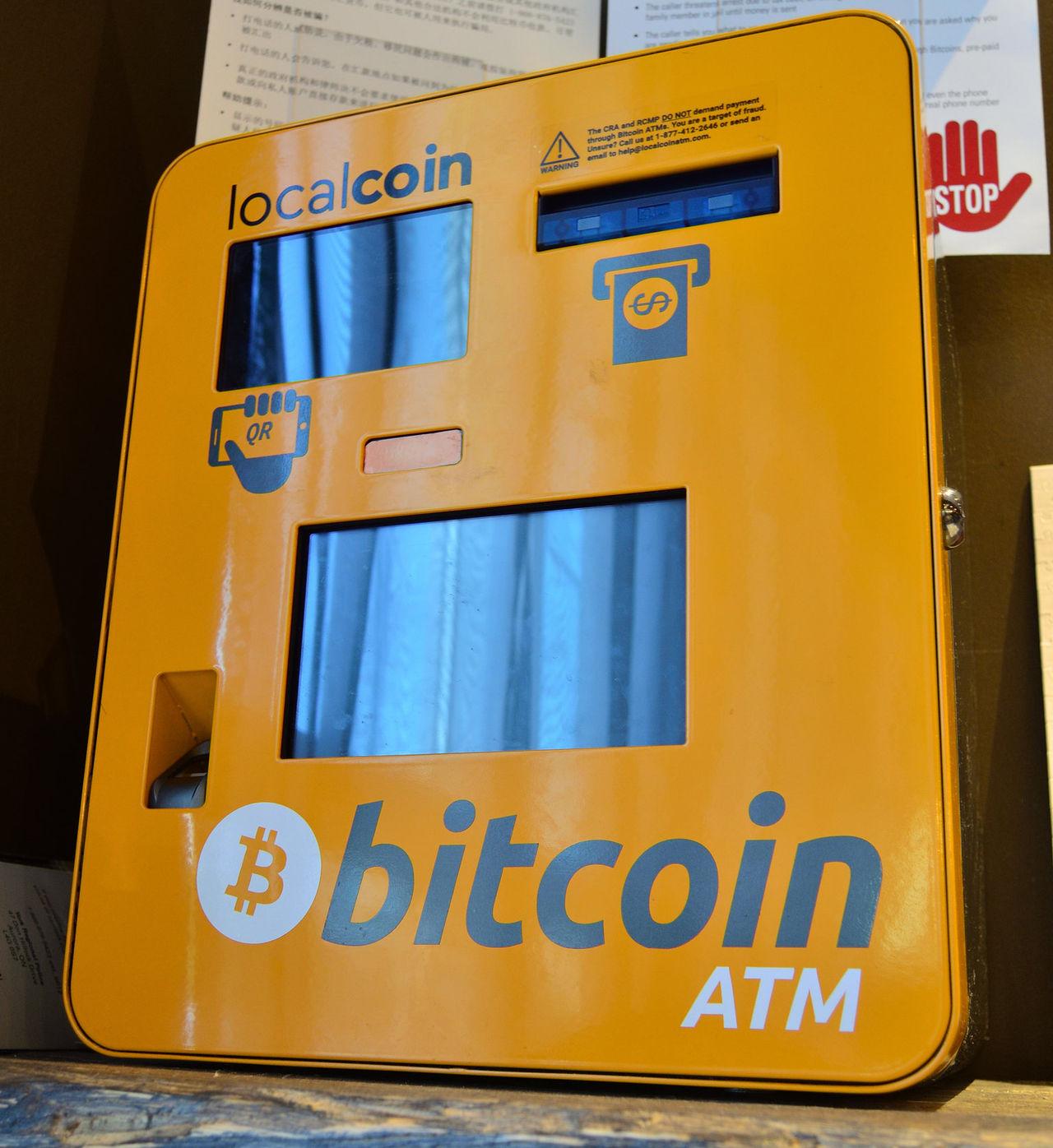 Det finns nu snart 9000 bitcoin-automater i världen