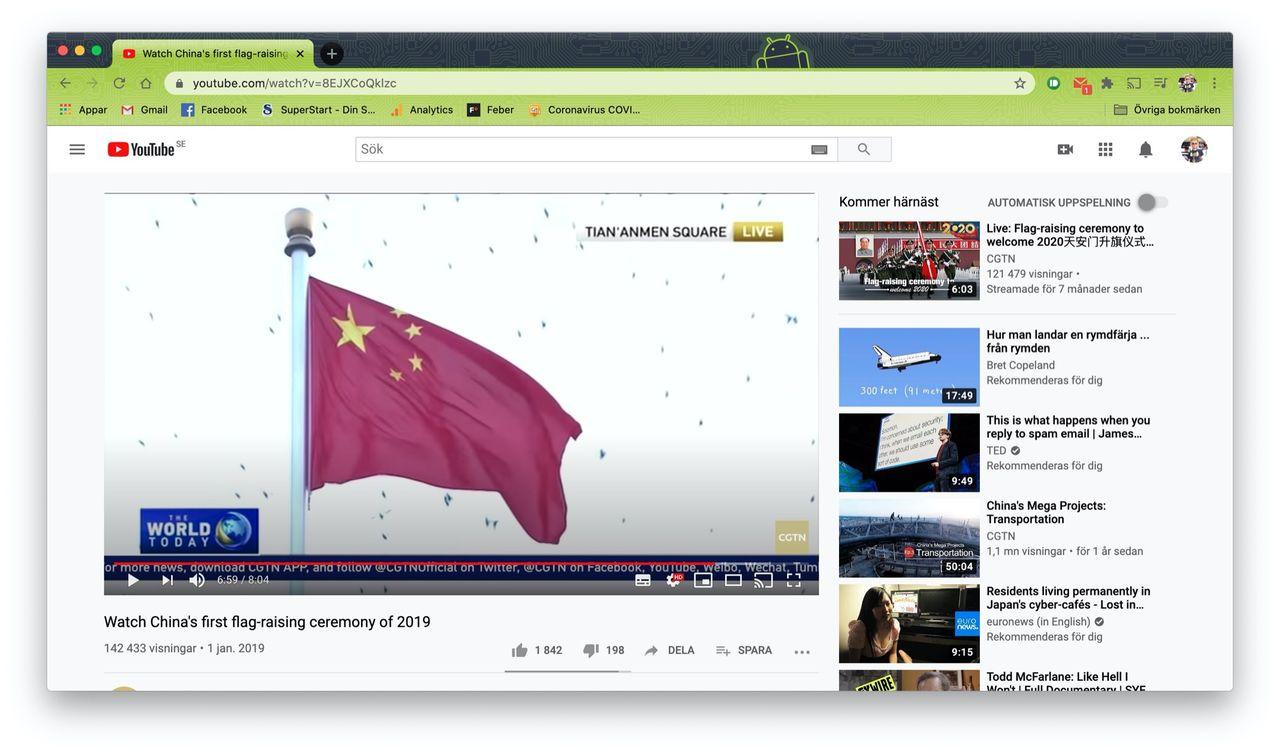 YouTube raderar kanaler som spred Kina-propaganda