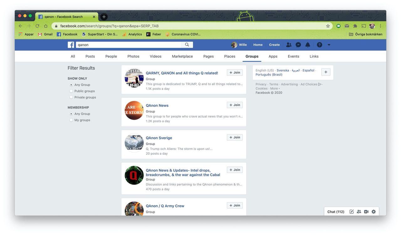 Även Facebook börjar rensa i QAnon-träsket