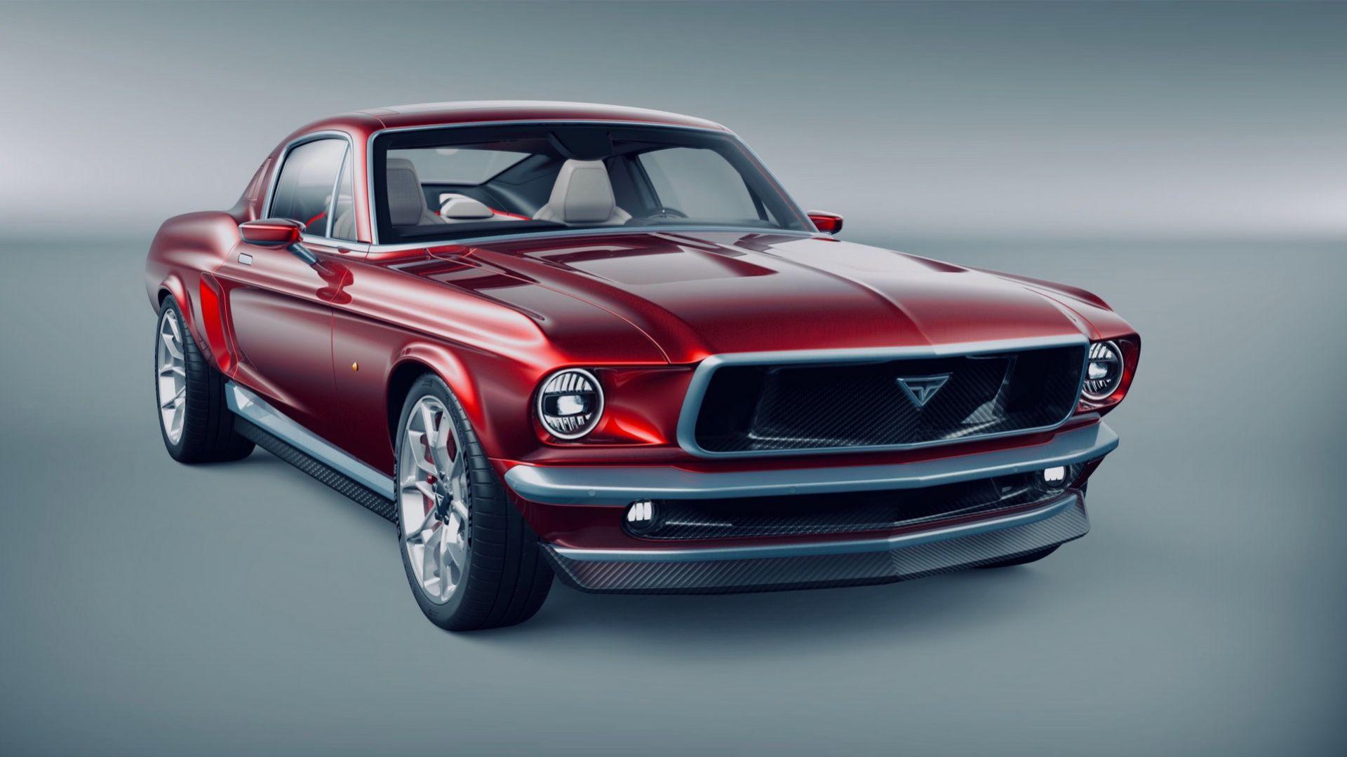 Nya bilder på Mustangen som är baserad på Tesla Model S